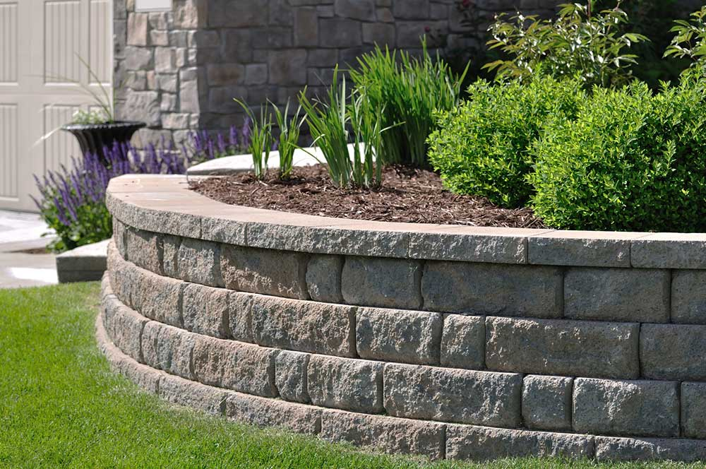 Hardscape products rockslide gravel ltd - How to build a garden retaining wall ...