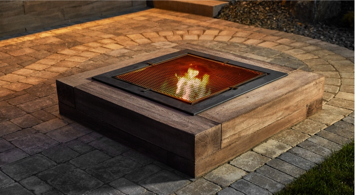Rockslide Gravel - Our Services - Hardscape Products - Fire Pits - Bridgewood Wall Fire Pit 690x380px View